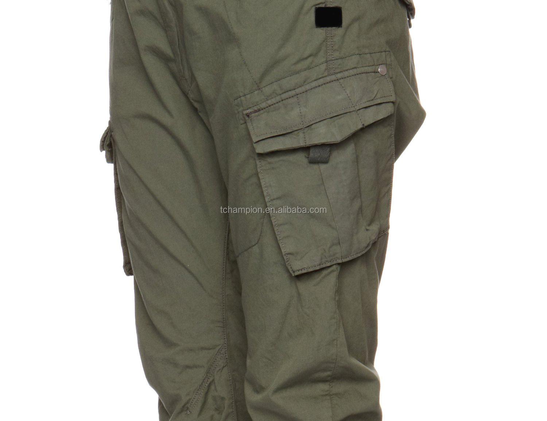 Creative Boy Mens Khaki Tan Thick Cotton Wicked 90s Wide Leg Baggy Pants