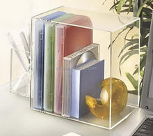 Clear acrylic book and CD bag holder with pen holder
