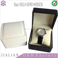 Flip Foldable leather Watch Packaging Boxes and Wrist Watch storage box with removable cushion