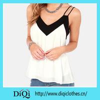 2015 Autumn Sexy Women Chiffon Tops Lace Neck Blouse Shirts Casual Blusas