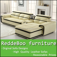 Model 8098 New executive living room corner sofa,trendy design corner sofa