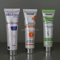25mm 30ml round plastic skin care cream tube with silver screw cap