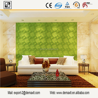 Eco-friendly acoustic 3d wall panel/ gypsum board for interior decoration