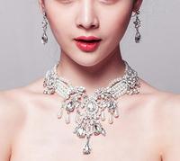 Vintage Inspired Wedding Jewelry set Statement Bridal Bib Necklace earring set!