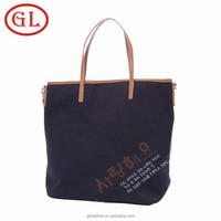 GuangDong OEM manufacturer custom cotton shopping bag, fashion beach bag, canvas tote bag