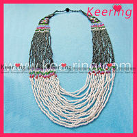 fashion beaded necklaces for garment decoration WNK-076