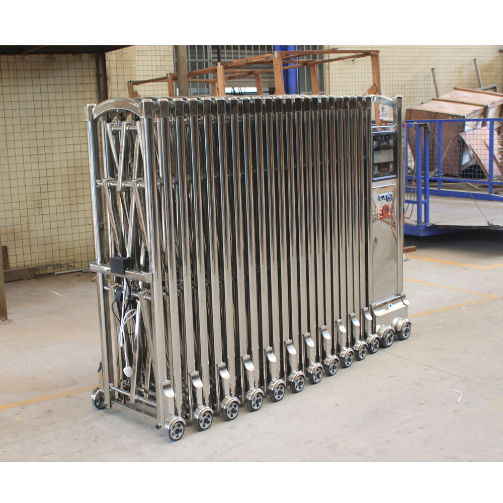 Main gate designs with stainless steel telescopic