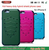 Cell phone case wholesale for iphone 6 leather case 2 piece hybrid case phone for i phone 6