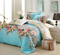 Home textile, 4 pcs Bedding Comforter Set, Blue, include 1*quilt cover 1*bed sheet 2*pillowcase,free shipping!