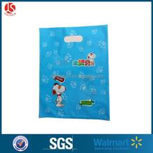 cartoon printed dog grocery die cut shopping handle bag