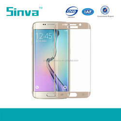 Full Screen Cover For 3D Curved 9H Tempered glass Samsung s6 edge screen protector / Samsung galaxy S6 edge Tempered glass