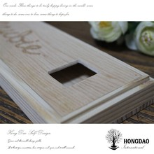 HONGDAO wooden tie box,tie organizer box