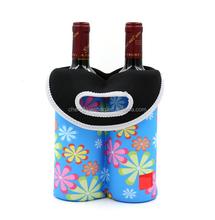 Neoprene Wine Tote/ Water Bottle Bag - 2 Bottle
