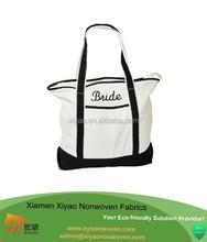 """Cotton shopper bag with """"bride"""" logo"""