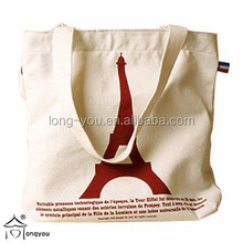 OEM production custom printed canvas cotton tote clear plain canvas bags