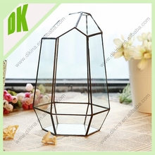 European style crystal glass vase for wedding decoration// Top selling copper glass crystal vase decorations wedding decoration
