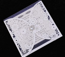 Customized Rhinestone Cluster Embellished Wedding Cards -----EA450
