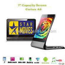Venta al por mayor 7 pulgadas de pantalla táctil wifi android4.0 marco de foto digital