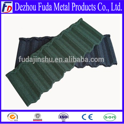 colorful stone chip coated metal roof tile(China manufacturer)