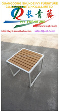 outdoor /indoor square modern coofee table teak and alu coffee table
