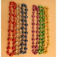 Mardi Gras colour beads necklace St. Patricks day necklace