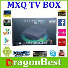 Full HD 1080p Internet linux MXQ sex porn live video TV BOX Arabic 1G + 8G S805