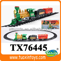 TX76445 kids electric train toy sets with smoking