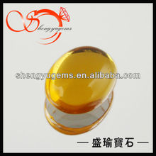 oval yellow glass cabochons Wuzhou cabochon wholesale GLOV000151