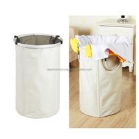 White Collapse Laundry Basket