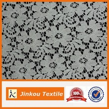 Fashion floral design white africa lace overlay fabric chemical lace fabric