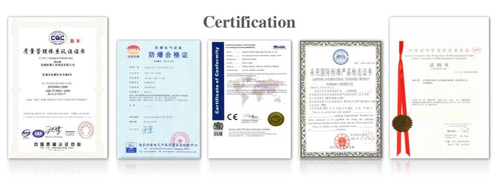 topright industrial certificate