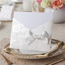 أزياء دعوة الزفاف الصينية الفرنسية 2015 فارغة بطاقات المعايدة ورقة