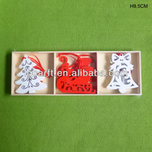 Christmas tree ornaments with die cut, S/9 hanging decoration set