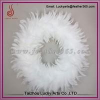 White feather christmas wreath supplies wholesale