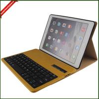 Hot Sale Protective Bluetooth Keyboard Leather Case , Bluetooth Wireless Keyboard Leather Case for ipad air