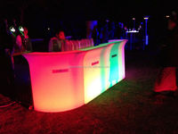 modern LED glass bar counter/coffee table
