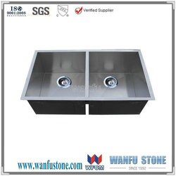 Franke double bowl stainless steel kitchen sink
