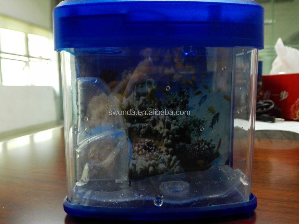 Plastic Led Lights Coffe Table Fake Fish Tank Aquarium