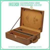 Pu Wine Box,Wine Carrier,Leather Wine Bottle Box