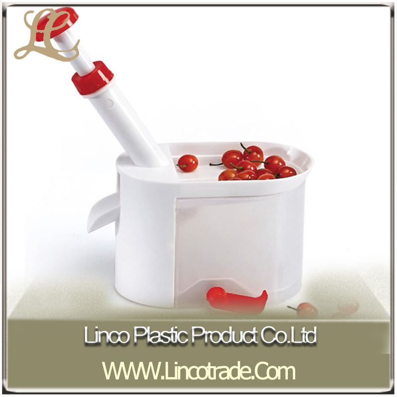Ménages en plastique cerise Pitter / Fruit monograine