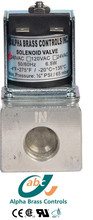 Aluminum Commercial 3/8 inch gas 220V fuel cut-off solenoid valve