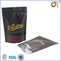 silver plastic foil stand up sealingcoffee bag with zipper packaging bag