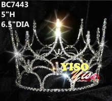 mens pageant crystal full round crown