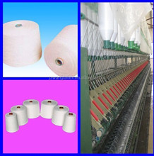 Blanco crudo 40 s / 1 hilo de tejer 100% poliéster hilado corazón hecho girar