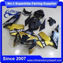 FFKHD008 China Fairings Motorcycle With Bolts Spikes For CBR600RR 2005 2006 Gold Matt Repsol