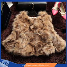 Selling 2015 winter lady short style real fox fur coat with 5 colors