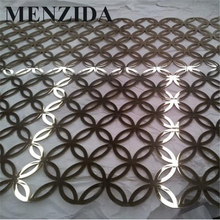 China OEM factory laser cut mirror stainless steel screen