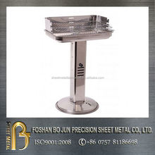 OEM customized product china manuacture height adjustable charcoal stainless steel bbq grill