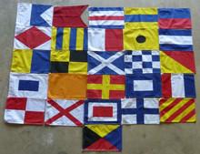 High Quality Durable Printed Polyester Nautical Naval Signal Flag Set