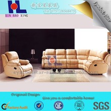 Home furniture enjoy in corner sofa with single seater leather sofa set